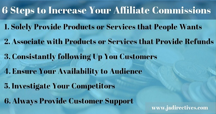 6 Steps to Increase Your Affiliate Commissions