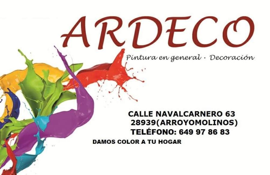ARDECO  Pintuwras en general - Decoracion             CALLE NAVALCARNERO 63 28939(ARROYOMOLINOS) TELEFONO: 649 97 86 83 DAMOS COLOR A TU HOGAR