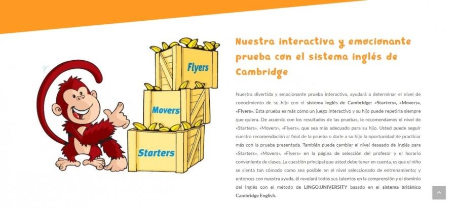 I  Nuestra interactiva y emocionante  prueba con el sistema inglés de Cambridge      = =