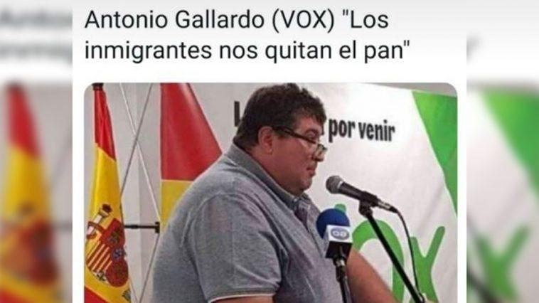 """¡Calla, gordo!Antonio Gallardo (VOX) """"Los<br /> inmigrantes nos quitan el pan"""""""