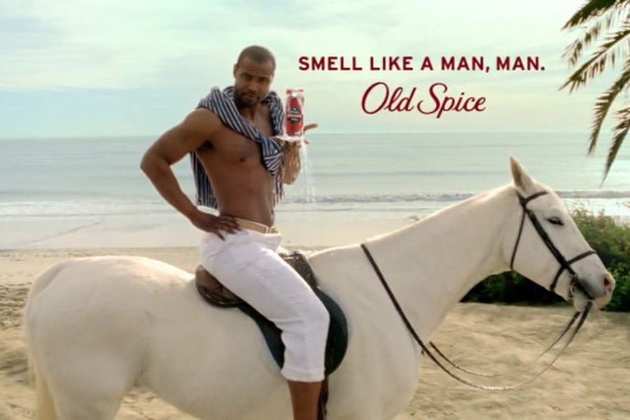Old Spice  SMELL LIKE A MAN, MAN. *  wr 7