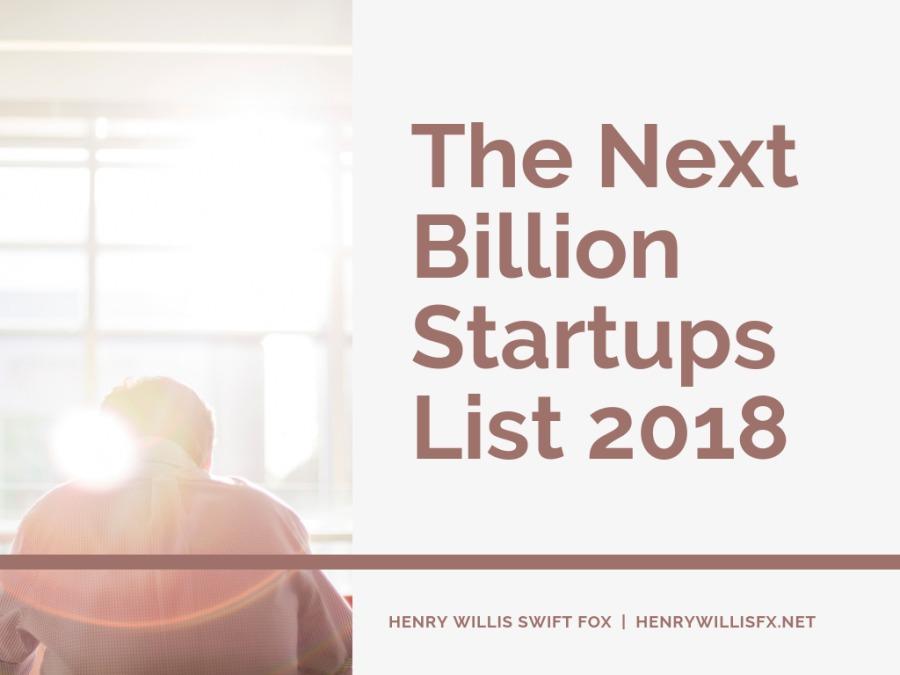 The Next Billion Startups List 2018The Next Billion  Startups List 2018