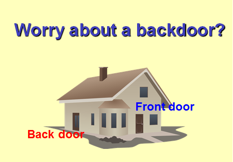 Worry about a backdoor?