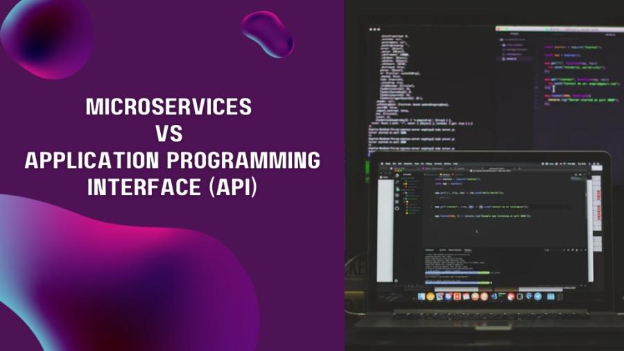 Microservices VS API\  MICROSERVICES VS APPLICATION PROGRAMMING : = E— INTERFACE (API) BB i            neTBese  eOte m