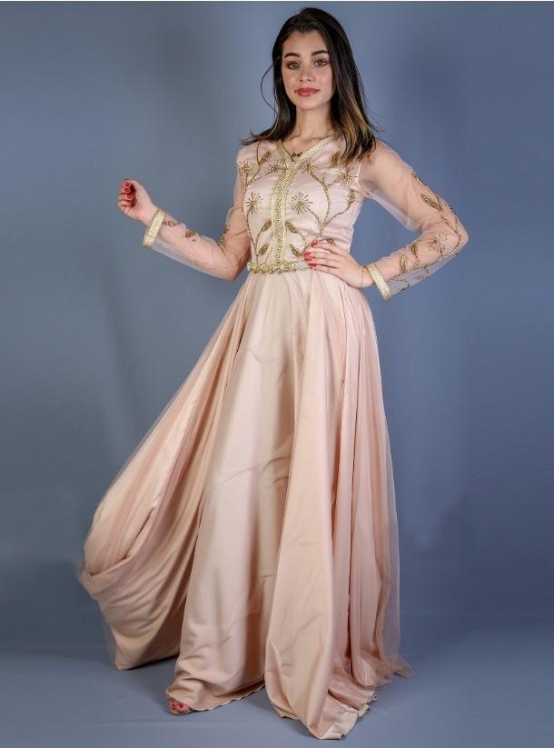 brings embroidered dresses and kaftans blended