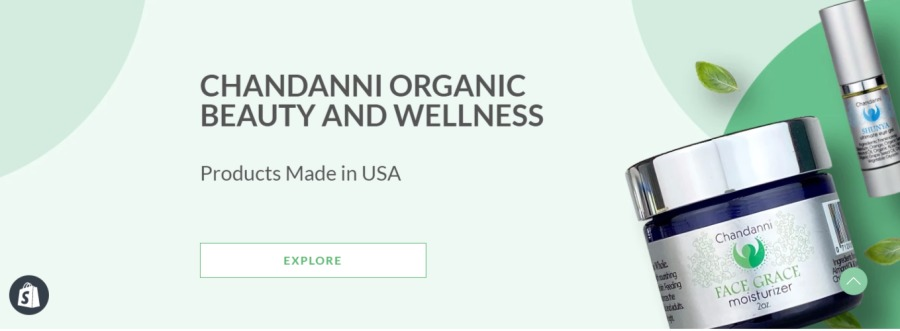 Organic SkincareCHANDANNI ORGANIC<br /> BEAUTY AND WELLNESS<br /> <br /> Products Made in USA
