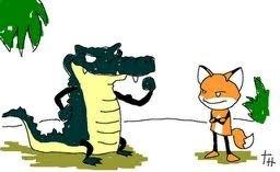La zorra y el cocodrilooe