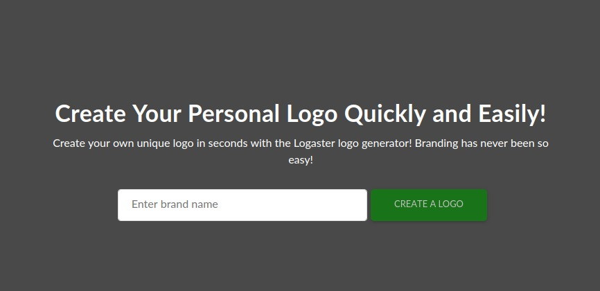 Create Your Personal Logo Quickly and Easily!  Create your own unique logo in seconds with the Logaster logo generator! Branding has never been so  [2