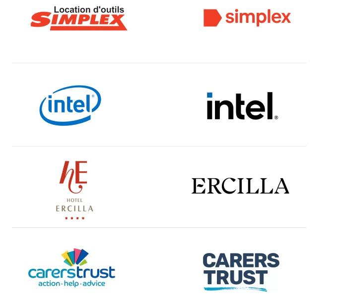 Las 10 principales tendencias de diseño de logotipos en 2021Location d'outils  SIMPLEX I simplex  (inteD intel  hE ERCILLA » CARERS Coes. TRUST