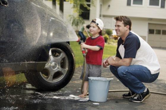 Car Washing with Papa