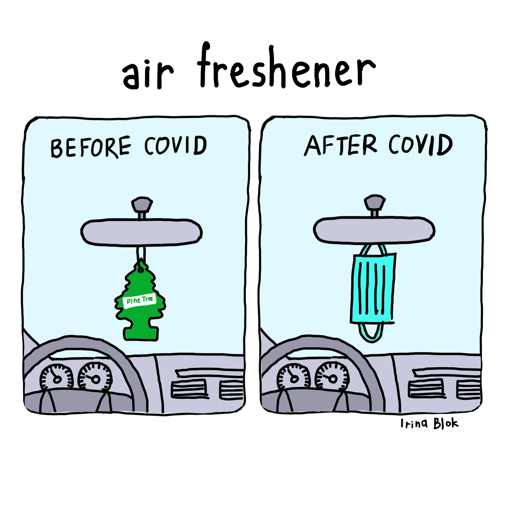 irina blok on Twitter: &quot;Air freshener  <a class=air freshener  BEFORE COVID AFTER CoYID