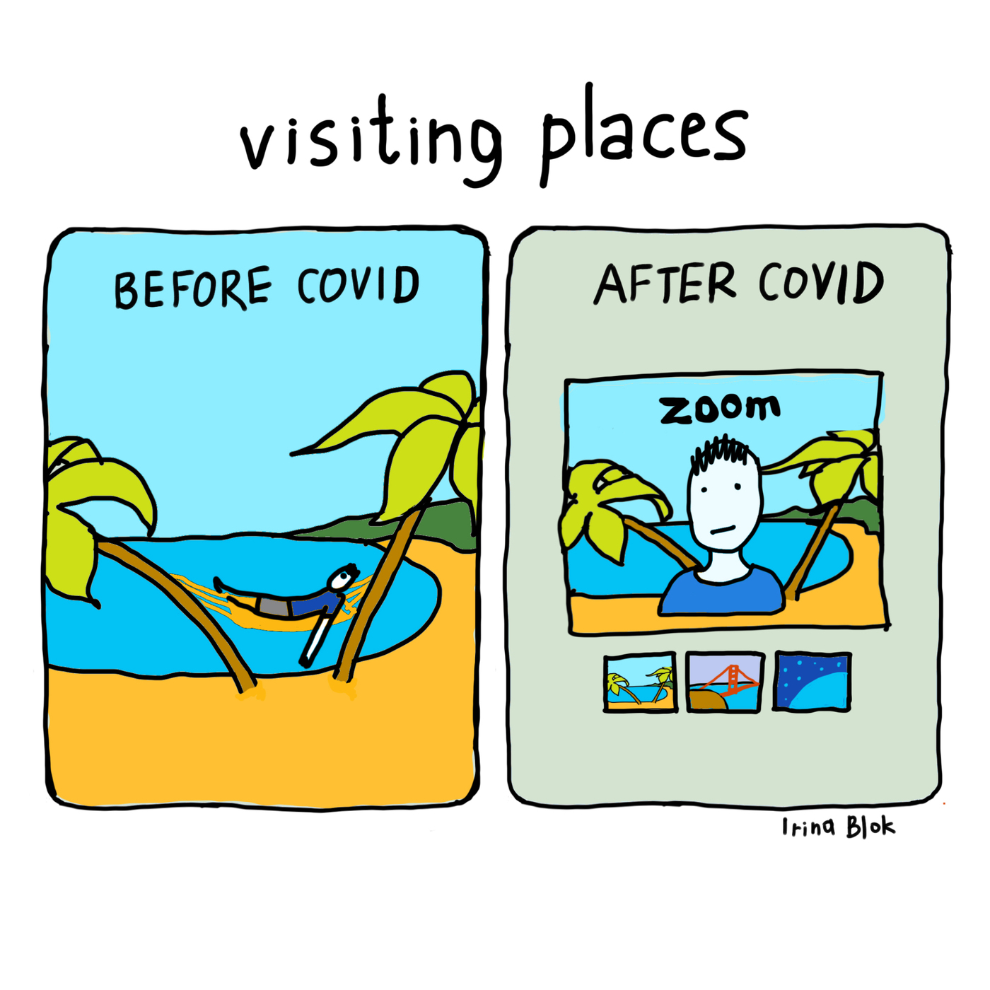 visiting places  BEFORE COVID AFTER CoVID