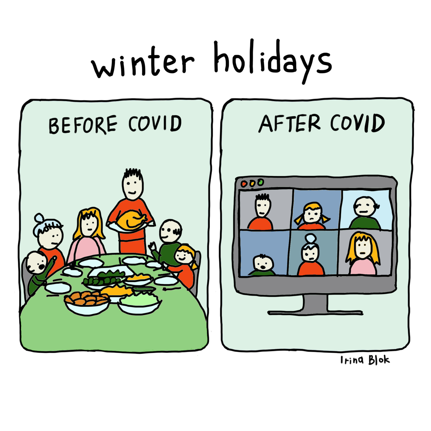 winter holidays  BEFORE COVID AFTER CoVID      Irina Blok