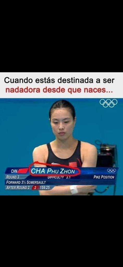 Cuando estas destinada a ser nadadora desde que naces...     on CHA PHu ZHoN x LH [LL Lars) Lu