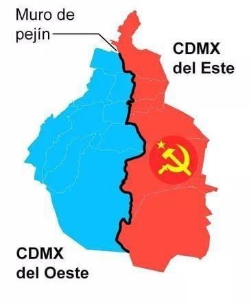 Muro de         CDMX del Este  del Oeste