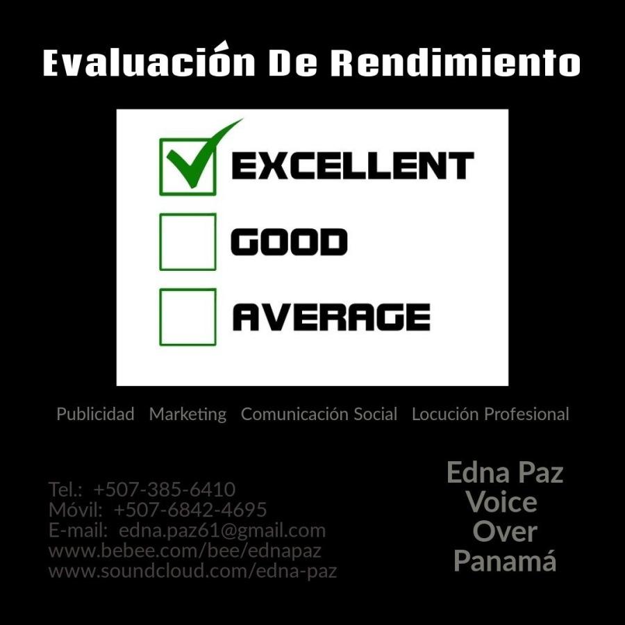 EVALUACIÒN DE RENDIMIENTO DE LOS EMPLEADOS DENTRO DE UNA ORGANIZACIÒN.Evaluacion De Rendimiento  EXCELLENT  | |coop  | | AVERAGE