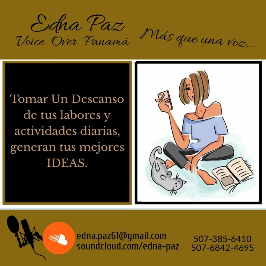 Tomar Un Descanso  de tus labores )  actividades diarias, generan tus mejores  IDEAS.