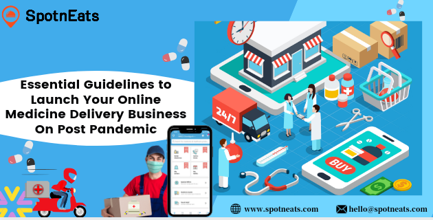 Essential Guidelines to Launch Your Online Medicine Delivery Business On Post Pandemic  © we spotmcats com @) etharaputpets com