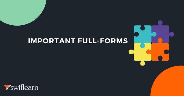 IMPORTANT FULL-FORMS  Pswifleam