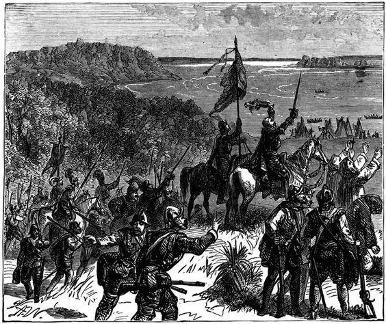 LA DELIRANTE PELEA DEL ASTORGANO FRANCISCO REINOSO CON CINCO INDIAS EN FLORIDA EN 1540
