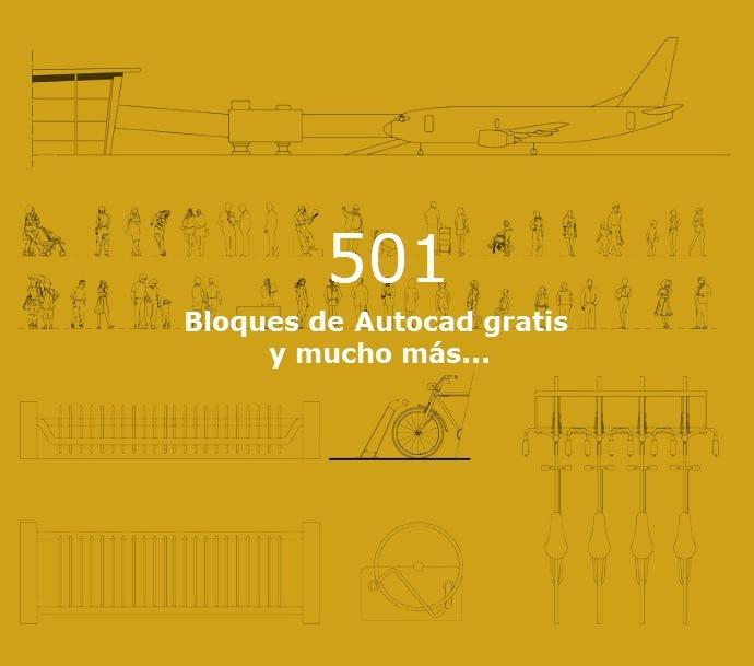 501  Bloques de Autocad gratis y mucho mas...