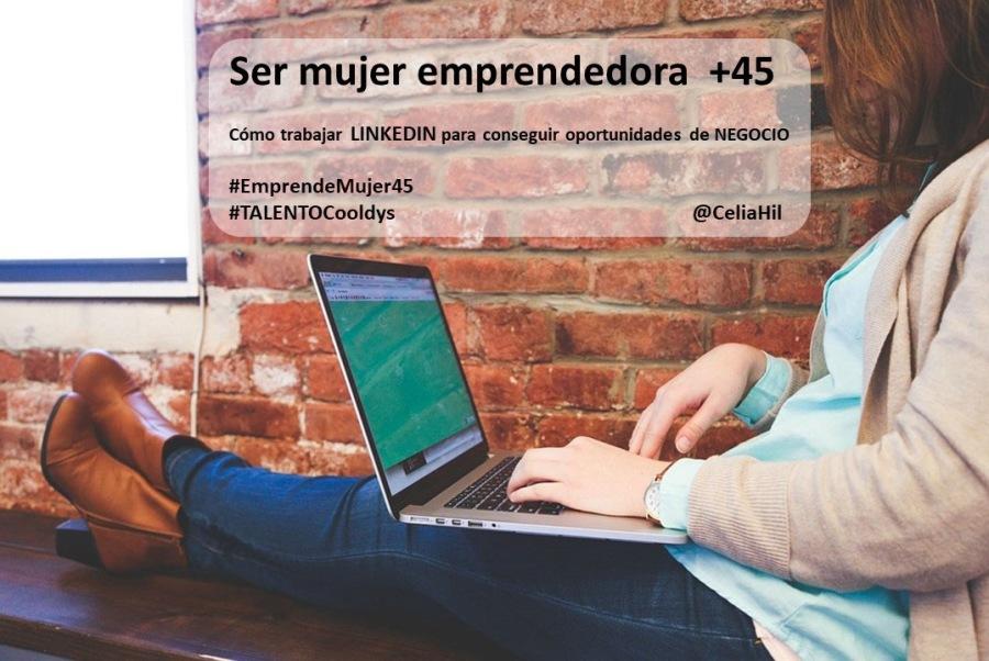 Pe a  + Ser mujer em  - Como trabajar LINKEDIN para conseguir oportunidades de NEGOCIO             #EmprendeMujerdS HTALENTOCooldys