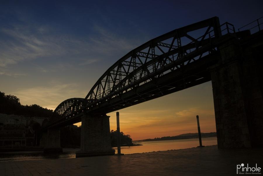 Lugares: Puente del ferrocarril sobre el río Eume