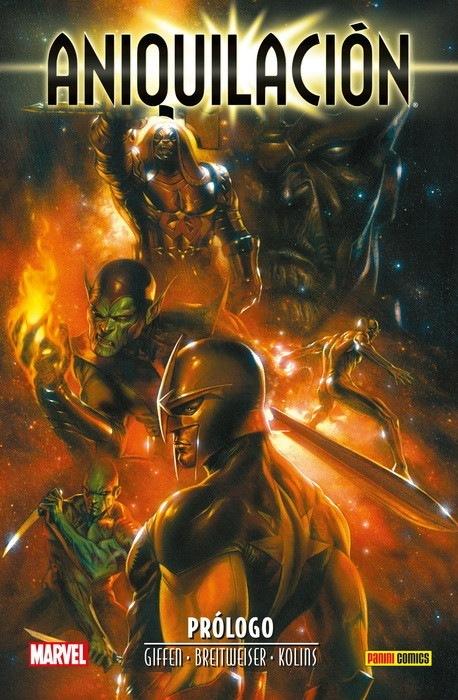 """Aniquilación: La ola cósmica que barrió Marvel.£ oy ' LE AN ~~  G \  (""""TT   Puseo 0 ARE] 8 - KLIN LR"""