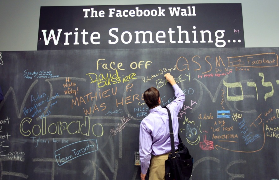 4 The Facebook Wall Write something.   op Se ae Peo : ey AY 2