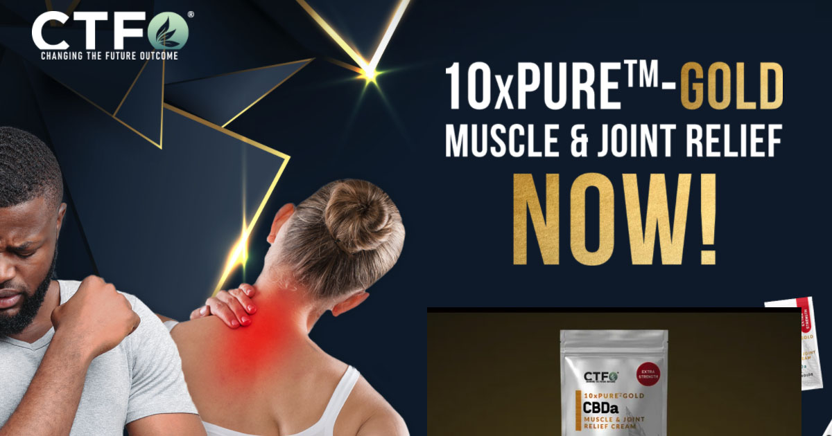 10xPURE™-GOLD MUSCLE & JOINT RELIEF  1 y