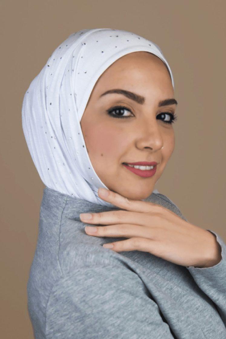 white hijab