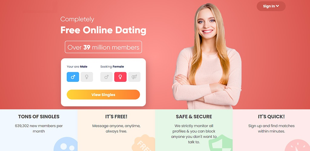 """CH  Completely  Free Online Dating  ( Over 39 millon members  """"TONS OF SINGLES  639.307 rer rraoemitmoes pe Messagn aryone, anya, mann dws roe profes & you con block QYOne you B0AT Went 10.  toa to"""