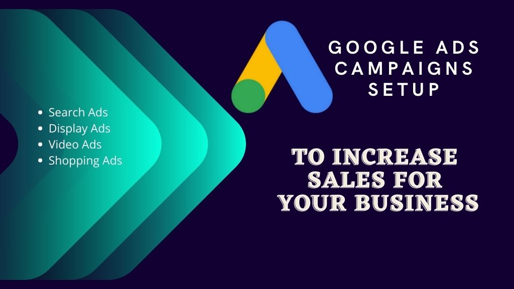 GOOGLE ADS CAMPAIGNS SETUP  TO INCREASE SALES FOR YOUR BUSINESS
