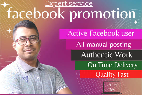 """Expert service bh book promotion,  Active Facebook user       All manual posting 